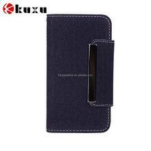 Back cover faux leather case real leather most popular flip case for iphone