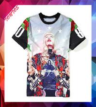 online shopping funny foil print simple basic tshirt