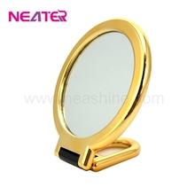 Fashionable UV pocket luxury hand held compact mirror, portable makeup mirror
