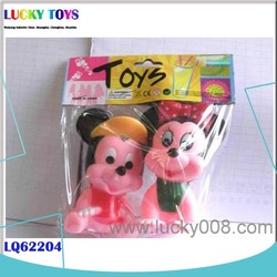 New Products! 2pcs soft plastic toy mickey minnie mouse toy for sale kids gift bath plastic toy caterpillar