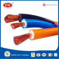 16mm 25mm 35mm 50mm 70mm 95mm2 Copper clad aluminum/Copper conductor PVC/Rubber sheathed welding cable