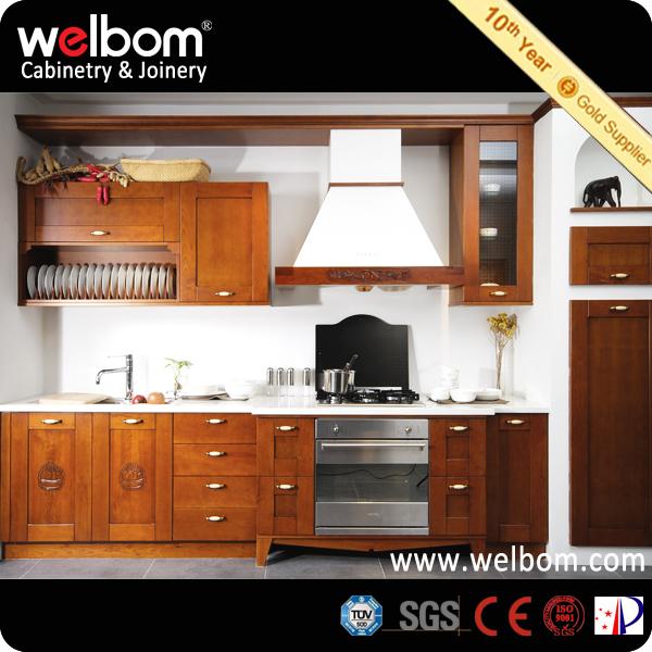 Madera oscura de cerezo gabinete de cocina estilo for Gabinetes de madera para cocina