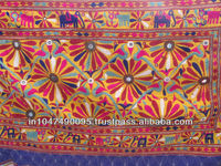 Latest Design 2015 New Arrival Indian Handmade Mirror Work Wall Hanging Vintage Antique tapestry