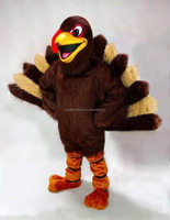 TURKEY MASCOT HEAD Costume Suit THANKSGIVING PROP HALLOWEEN