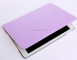 Leather PU with Transparent PC Case for iPad Air 2 Tablet Cover