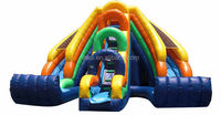 Hot Sale Newest INFLATABLE WET OR DRY DOUBLE KING TWIST RAINBOW