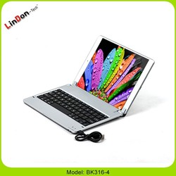 High quality wireless keyboard case for ipad air, folio case for ipad air