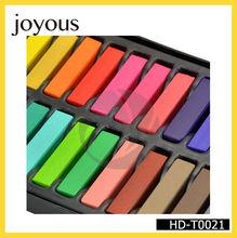 2014 nueva moda 6 piezas set temporal del cabello tiza de color del tinte