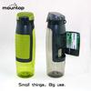 2015 hot BPA free custom logo sport plastic filter water bottle protein shaker wallet water bottle