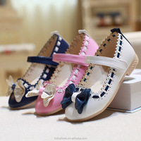 2015 sweet girl's shoes fashion autumn girl's dolly shoes cute bow Korean princess girl's shoes