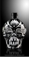 Novelty glass skull head bottle N004