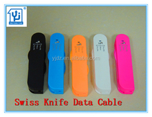 Electronic Gifts Hot Selling New Products for 2015 Swiss Knife USB Data Cable for iP4/5/6