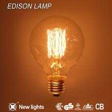 Home Decorative Christmas tree shape G80 Vintage Edison Light Bulb with teardrop