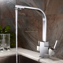 Chrome Brass Health Water Filter Square 3 Way Kitchen Faucet