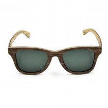 China Recycled Skateboard Wood Sunglasses CE FDA factory manufacturer bamboo sunglasses handmade wooden sunglasses