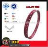 Hot!!! red color WM 1.40 dirt bike alloy wheel rim/ motorcycle alloy rim