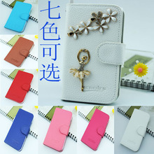 hot selling dancing girl bling pouch pu leather flio case for iphone 6 iphone 6 case