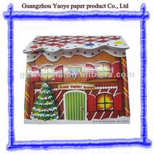 Hot sale paper villa house for Christmas decoration,paper folding house
