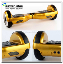 15-20km range gold color two wheels electric scooter self balancing