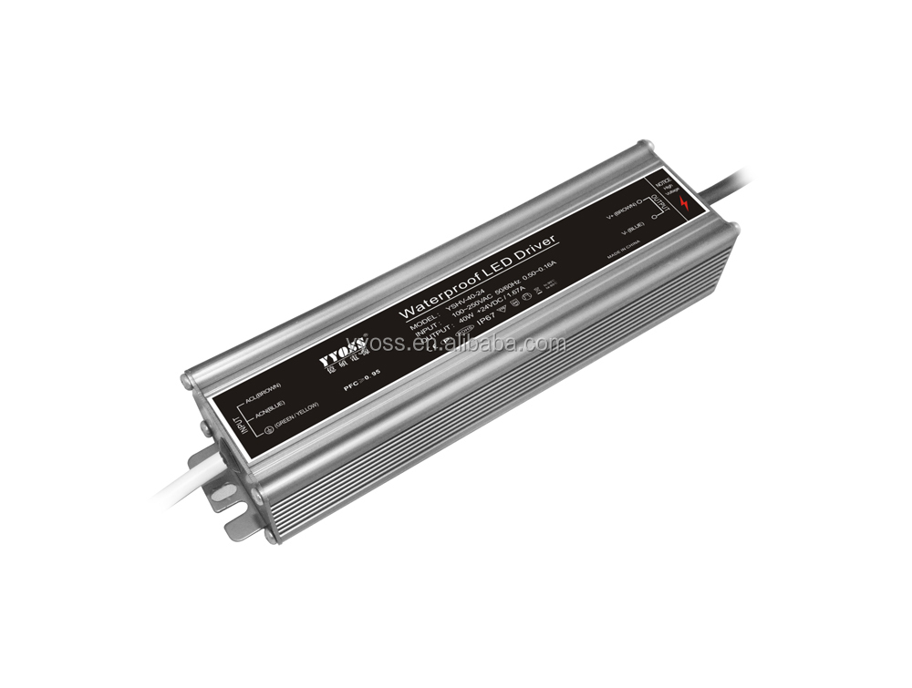 constant voltage led power supply for led lighting with CE/ROHS 40w 12V/24V36V48V waterproof power supply 48v ip67 YSHV-40-48