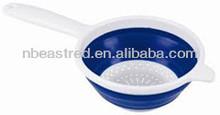 de alta calidad de silicona colador plegable
