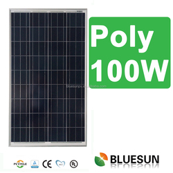 Bluesun high efficiency 25years warranty Poly 12v 100w solar modules panel