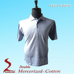 Made In China Golf Polo T Shirts 100%Cotton Double Mercerized T Shirt For Men