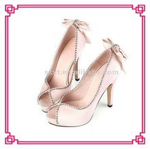 Sex satin dress high heel bridal shoes wedding high heel fashion shoe