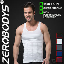 10pcs ZEROBODYS Incredible Mens Body Shaper Firming Panels 140D Vest 107 WH Underwear Vest Waist Cincher Men's Underwear Tights