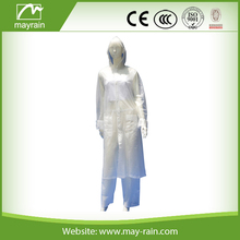 2015 hot sale beautiful fashional cheap good quality adult lady's clear polyester / pvc / EVA rainwear with attached hood