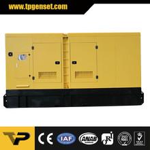Silent type diesel generator TP250C6S 182kw/228kva 60Hz powered by Cummins engine