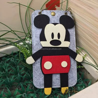 Clear full touch screen mickey design pvc waterproof cell phone bag