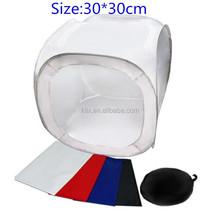 Studio Shooting Light Soft Box+4 Backdrops 30*30cm Light tent