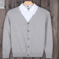 Sweater Knit Korean Men V Neck Sweater