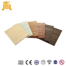 100% Asbestos Free Durable Natural Wooden Grain Calcium Silicate 3D Wall Panel