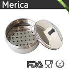 Aço inoxidável vapor de alimentos com tampa de metal