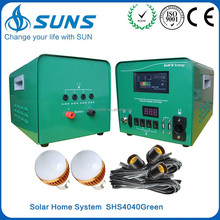30W 40W 50W off grid mobile home solar panel home system with digital voltmeter