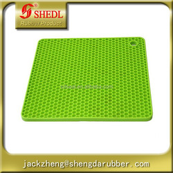 Hot Sales Circle Round Silicone Dinner Placemat for Table