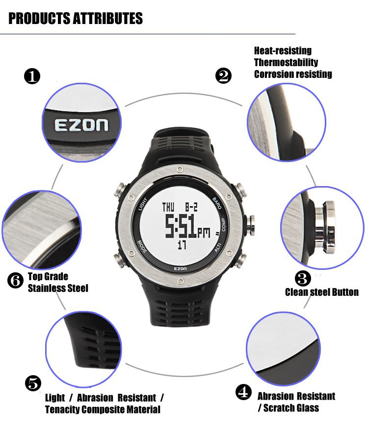 ezon watch H001B11 Mens Climbing watch with Compass, Altimeter & Barometer
