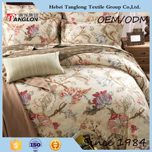 Luxury reactive printing branded print quilt cover set bedding set bed sheets quilts
