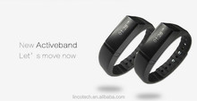 2015 HOT SALE fitness bracelet bluetooth sport wristband pedometer sleep monitoring/OLED screen/calorie-burning counter