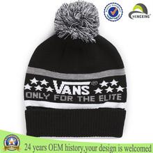 pom beanie sombrero jacquard logo custon sombrero al por mayor de 5 paneles