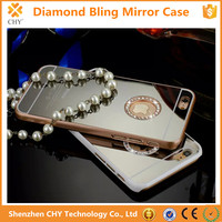 Fashion Handmade Bling Crystal Diamond Mirror PC Hard Case For iphone 5 5s