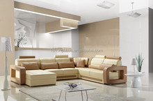Ordinary household furniture living room sofa with real leather 105A