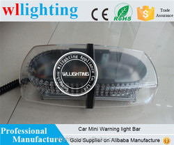 New Red 240 LED Mini Light Bar Strobe LED flashing lightbar used Emergency Warning Beacon With Magnet 12-24V