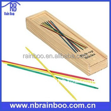 Hot selling top quality 41pcs sticks wooden mikado game set with wooden box for play game and promotion