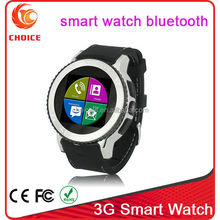 super product touch screen 3g hand phone watch waterproof wifi with 5.0 camera and mtk 6572