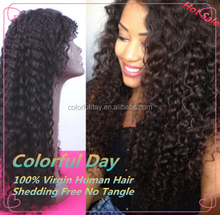 26inches Colorful Day Cheap cheap afro kinky curly full lace wigs natural black