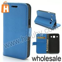Lichee Pattern Wallet Stand Flip Leather Case for Samsung i8260 i8262 Galaxy Core with Card Slot