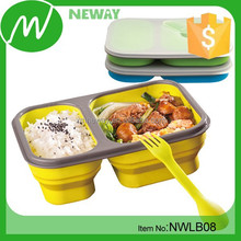 Food Grade collapsible Kids Silicone lunch box